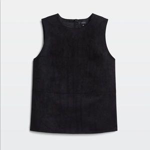 Aritzia Babaton Vegan Suede Leather sleeveless top
